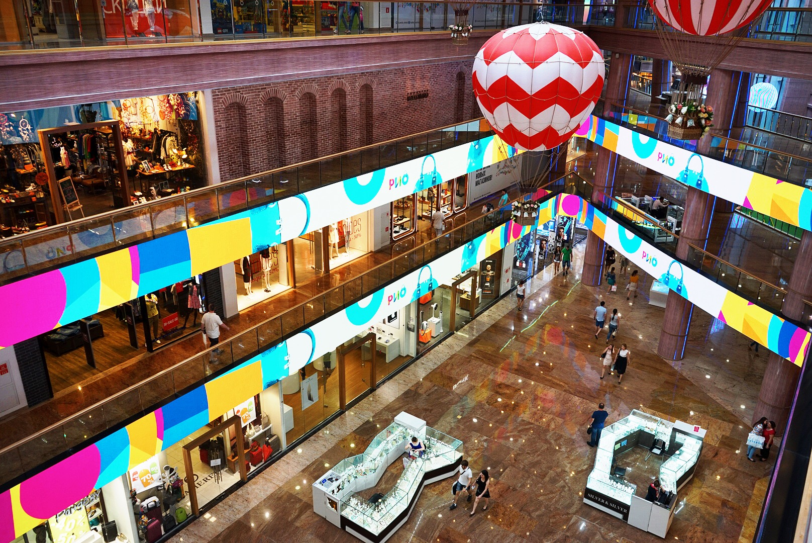 RIO Mall interior advertisments